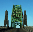 Newport Bridge, stock photo