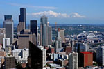 Seattle & Mt. Rainier, stock photo